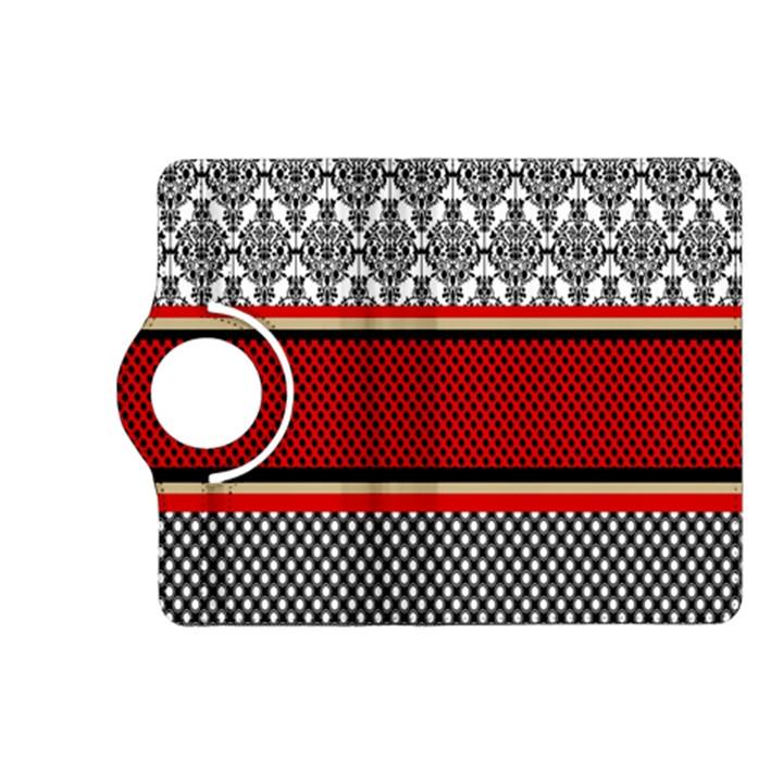 Background Damask Red Black Kindle Fire HD (2013) Flip 360 Case