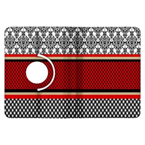 Background Damask Red Black Kindle Fire HDX Flip 360 Case