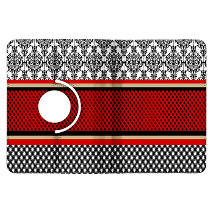Background Damask Red Black Kindle Fire HDX Flip 360 Case