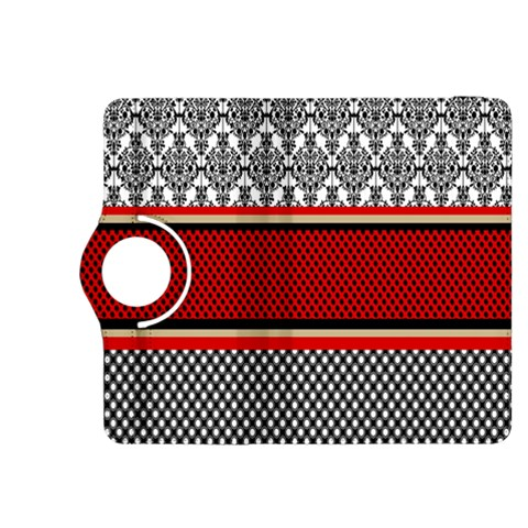 Background Damask Red Black Kindle Fire HDX 8.9  Flip 360 Case