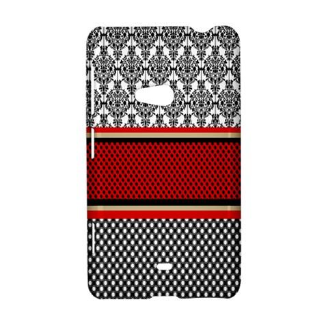 Background Damask Red Black Nokia Lumia 625