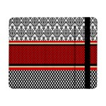 Background Damask Red Black Samsung Galaxy Tab Pro 8.4  Flip Case Front