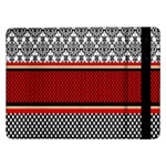 Background Damask Red Black Samsung Galaxy Tab Pro 12.2  Flip Case Front