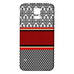 Background Damask Red Black Samsung Galaxy S5 Back Case (White)