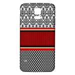 Background Damask Red Black Samsung Galaxy S5 Back Case (White) Front