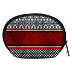 Background Damask Red Black Accessory Pouches (Medium)  Back