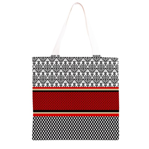 Background Damask Red Black Grocery Light Tote Bag
