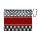 Background Damask Red Black Canvas Cosmetic Bag (XL) Back