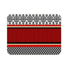 Background Damask Red Black Double Sided Flano Blanket (Mini)