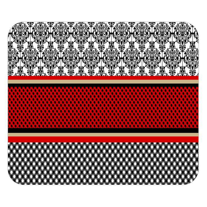 Background Damask Red Black Double Sided Flano Blanket (Small)