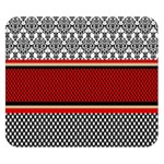 Background Damask Red Black Double Sided Flano Blanket (Small)  50 x40 Blanket Back