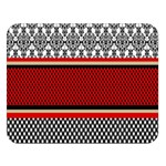 Background Damask Red Black Double Sided Flano Blanket (Large)  80 x60 Blanket Front