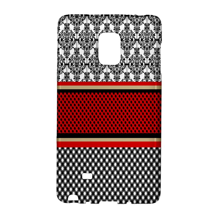 Background Damask Red Black Galaxy Note Edge