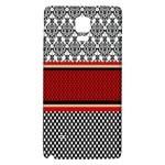 Background Damask Red Black Galaxy Note 4 Back Case Front