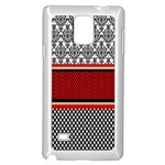 Background Damask Red Black Samsung Galaxy Note 4 Case (White) Front