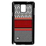 Background Damask Red Black Samsung Galaxy Note 4 Case (Black) Front