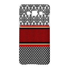 Background Damask Red Black Samsung Galaxy A5 Hardshell Case