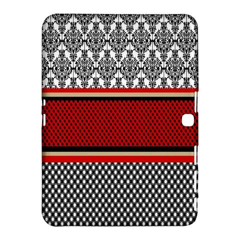 Background Damask Red Black Samsung Galaxy Tab 4 (10.1 ) Hardshell Case