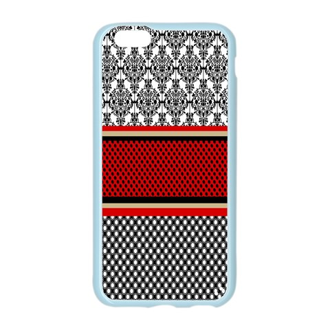 Background Damask Red Black Apple Seamless iPhone 6/6S Case (Color)