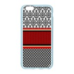 Background Damask Red Black Apple Seamless iPhone 6/6S Case (Color) Front