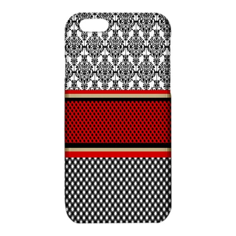 Background Damask Red Black iPhone 6/6S TPU Case