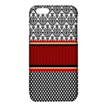 Background Damask Red Black iPhone 6/6S TPU Case Front