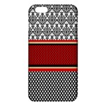 Background Damask Red Black iPhone 6 Plus/6S Plus TPU Case Front