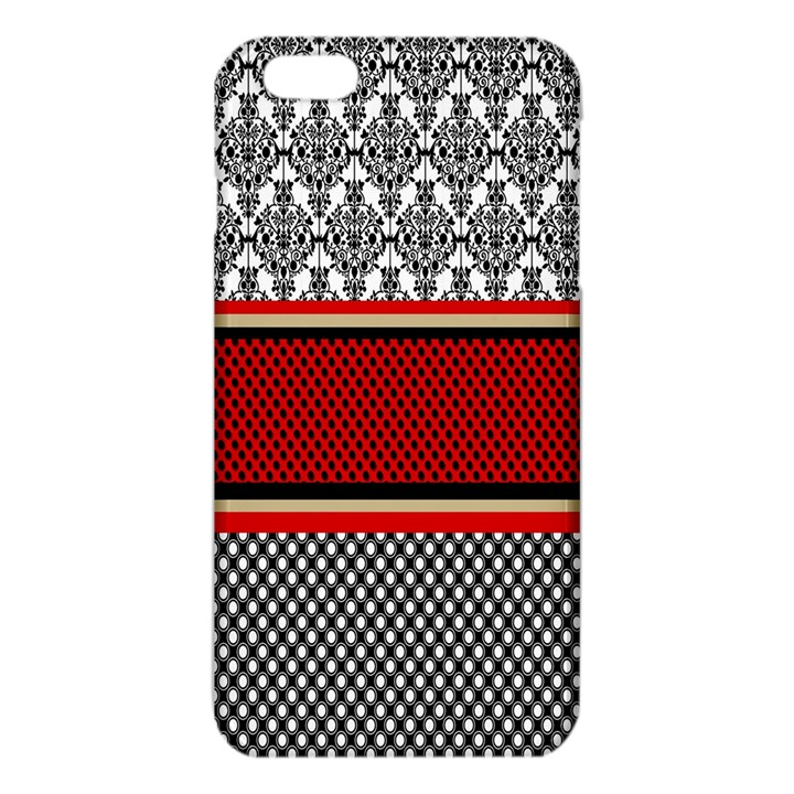 Background Damask Red Black iPhone 6 Plus/6S Plus TPU Case