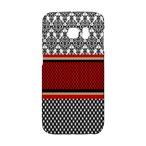Background Damask Red Black Galaxy S6 Edge