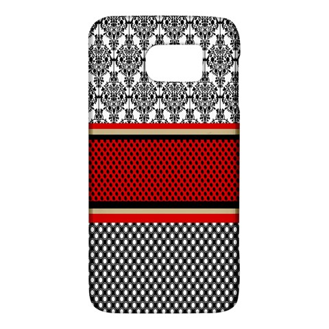 Background Damask Red Black Galaxy S6