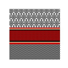 Background Damask Red Black Small Satin Scarf (Square)