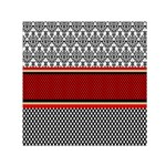 Background Damask Red Black Small Satin Scarf (Square) Front