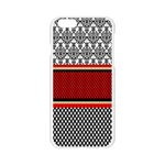 Background Damask Red Black Apple Seamless iPhone 6/6S Case (Transparent) Front