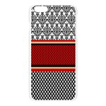 Background Damask Red Black Apple Seamless iPhone 6 Plus/6S Plus Case (Transparent) Front
