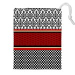 Background Damask Red Black Drawstring Pouches (XXL) Front