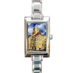 Berlin Friednau Germany Building Rectangle Italian Charm Watch