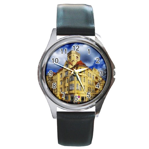 Berlin Friednau Germany Building Round Metal Watch