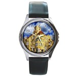 Berlin Friednau Germany Building Round Metal Watch Front