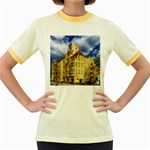 Berlin Friednau Germany Building Women s Fitted Ringer T-Shirts Front