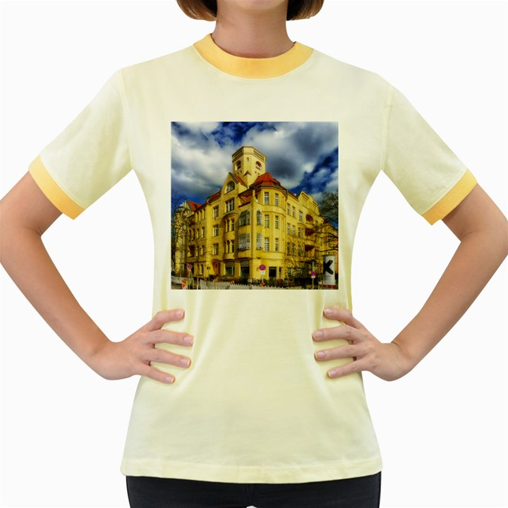 Berlin Friednau Germany Building Women s Fitted Ringer T-Shirts