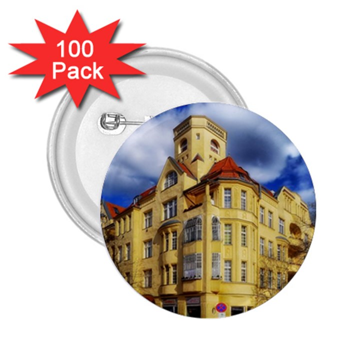 Berlin Friednau Germany Building 2.25  Buttons (100 pack)