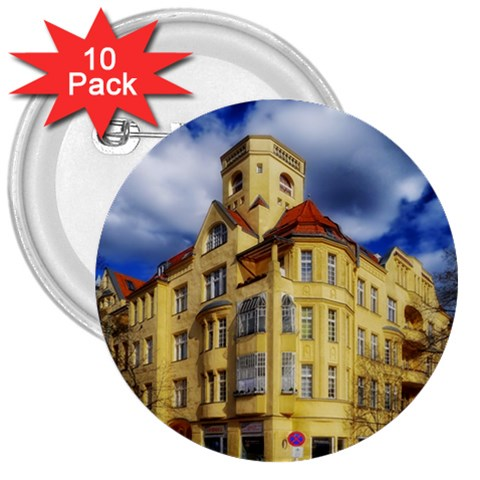 Berlin Friednau Germany Building 3  Buttons (10 pack)