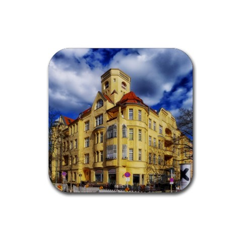 Berlin Friednau Germany Building Rubber Coaster (Square)
