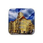 Berlin Friednau Germany Building Rubber Coaster (Square)  Front