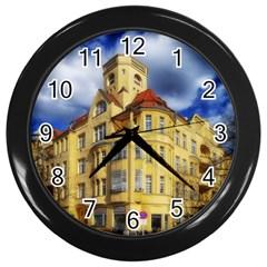 Berlin Friednau Germany Building Wall Clocks (Black)