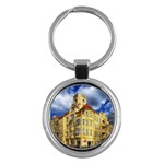 Berlin Friednau Germany Building Key Chains (Round)  Front