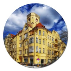 Berlin Friednau Germany Building Magnet 5  (Round)