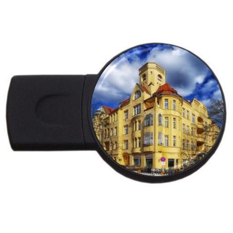 Berlin Friednau Germany Building USB Flash Drive Round (2 GB)