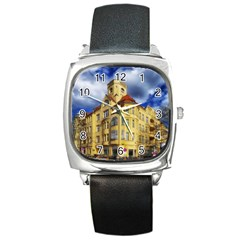 Berlin Friednau Germany Building Square Metal Watch