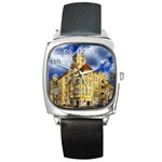 Berlin Friednau Germany Building Square Metal Watch Front